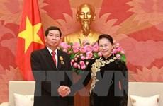 Presidenta del Parlamento vietnamita aboga por mayor cooperacion judicial con Laos