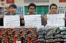 Compleja situación de contrabando de petardos en áreas fronterizas vietnamitas ante la llegada del Tet