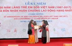 Aldea Infantil SOS Vietnam recibe Orden de Trabajo de primera categoría