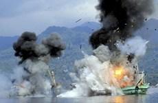 Altos funcionarios de Indonesia urgen a dejar de destruir pesqueros extranjeros