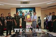 Delegación camboyana extiende saludos de Año Nuevo a Bac Lieu