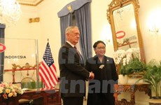 Canciller indonesia se reúne con secretario de Defensa estadounidense