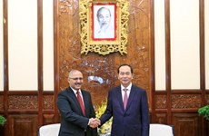 Presidente vietnamita destaca aportes de embajador egipcio a nexos bilaterales