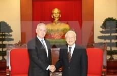 Máximo dirigente partidista de Vietnam propuso fomentar lazos con EE.UU. en sectores potenciales