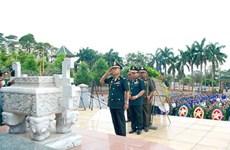 Delegación del Ejército Royal de Camboya rinde homenaje a mártires voluntarios vietnamitas