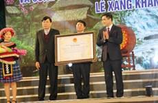 Festival tradicional de etnia Thai se reconoce como Patrimonio Cultural Inmaterial de Vietnam