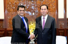 Presidente de Vietnam recibe a directivo de gran grupo indio de energía