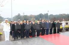 Dirigentes partidistas y estatales rindieron homenaje al Presidente Ho Chi Minh