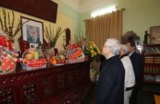Máximo dirigente partidista de Vietnam rinde tributo a sus predecesores