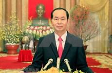 Presidente de Vietnam felicita a soldados de Truong Sa en ocasión del Tet