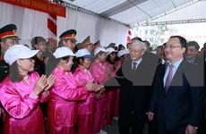 Secretario general del PCV visita Hung Yen por el Tet