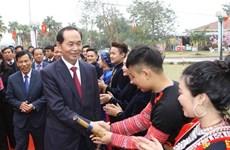 Presidente de Vietnam reunido con etnias minoritarias en su fiesta primaveral