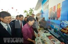 Presidenta del Parlamento visita Festival Nacional de la Prensa