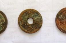 Antiguas monedas japonesas encontradas en provincia centrovietnamita