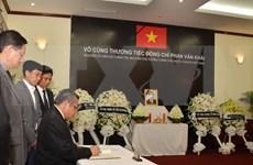 Continúan actos en honor de Phan Van Khai en numerosos países