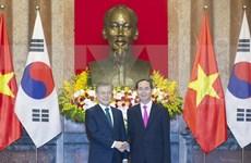 Presidente de Vietnam y Sudcorea sostienen conversaciones oficiales en Hanoi