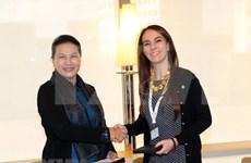 Titular parlamentaria vietnamita conversa con presidenta de IPU