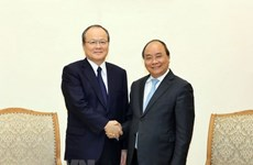 Primer ministro de Vietnam recibe a ejecutivo del Grupo Mitsubishi
