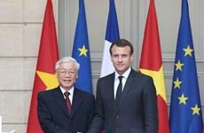 Vietnam y Francia comprometidos con fortalecimiento de cooperación bilateral