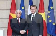 Prensa francesa destaca visita oficial a Francia de líder partidista de Vietnam