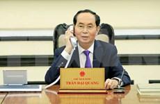 Presidente vietnamita felicita a su par ruso y extiende pésame por incendio en Kemorovo