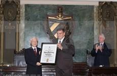 Máximo dirigente partidista de Vietnam recibe Título Doctor Honoris Causa de la Universidad de La Habana