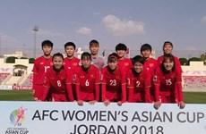 Equipo de fútbol femenino de Vietnam pierde ante Japón en Copa Asiática 2018