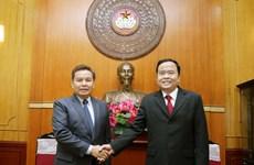 Frente de Patria de Vietnam y Frente laosiano de Construcción Nacional fortalecen cooperación