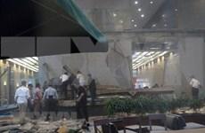 Colapso de edificio en Indonesia causa siete fallecidos