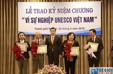 Destacan a personas con grandes contribuciones a actividades de la UNESCO en Vietnam