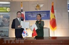 Vietnam y Sudcorea firman declaración conjunta de cooperación en defensa hasta 2030