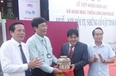 Recibe la provincia centrovietnamita de Hue donación de objetos antiguos