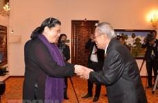 Vicepresidenta del Parlamento de Vietnam recibida por dirigentes camboyanos