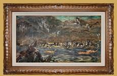 Pintura de laca subastada por un récord de 280 mil dólares en Vietnam