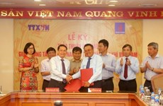 Agencia Vietnamita de Noticias y PetroVietnam estrechan cooperación