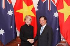 Efectúan primera reunión de cancilleres Vietnam-Australia
