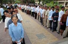 Camboya realiza toma de número de pedido para elecciones generales