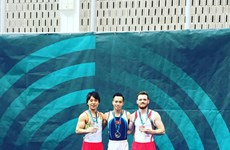 Gimnastas vietnamitas conquistan medallas de oro en Copa Mundial