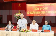 Máximo dirigente partidista dialoga con electores de Hanoi