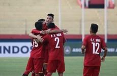 Selección de fútbol sub 19 de Vietnam derrota 5-0  a Filipinas