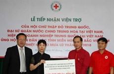 Cruz Roja de Vietnam recibe donaciones para poblaciones afectadas por inundaciones
