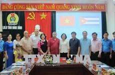 Dirigente de organización sindical de Cuba visita provincia vietnamita