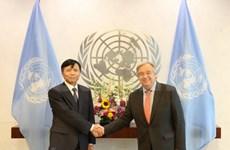 Secretario general de ONU valora cooperación con Vietnam