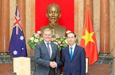 Presidente vietnamita recibe al titular de Cámara de Representantes de Australia