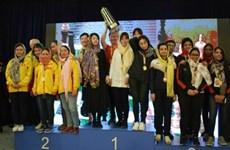 Equipo femenino vietnamita gana plata en el campeonato asiático de ajedrez