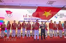 Despiden a delegación de atletas vietnamitas participantes en juegos continentales ASIAD-2018