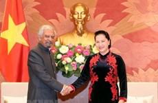 Máxima legisladora de Vietnam recibe a representantes de Naciones Unidas