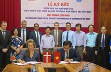 Vietnam y Dinamarca firman un acuerdo de cooperación sobre seguro médico