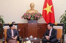 Vietnam y Laos corroboran nexos bilaterales