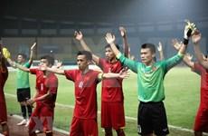Periódicos de Asia elogian racha victoriosa de fútbol vietnamita en ASIAD 2018